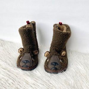 gap faux sherpa winter tb bear boots toddler 11